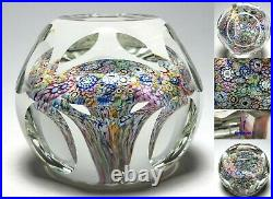 Perthshire Annual Collection 2000F LtdEd End of Day Faceted Mushroom Paperweight