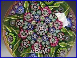 Perthshire Art Glass Paperweight Star Millefiori dated 1995