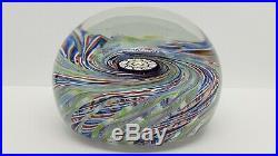 Perthshire Art Glass Paperweight Swirl Pinwheel Complex Millefiori