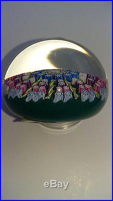 Perthshire Glass Paperweight, 1969,'70. #PP6 Annual, Millifiori&TwistCanes P Center
