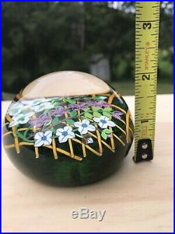 Perthshire Glass Paperweight Limited Edition Bouquet flowers Lattice Moss Floral