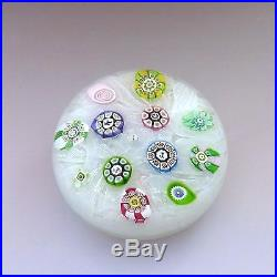 Perthshire LE PP 11 1977 glass paperweight signed + dated / presse papiers