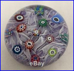 Perthshire Latticino Art Glass Paperweight Cane Horses Witch 1985 P