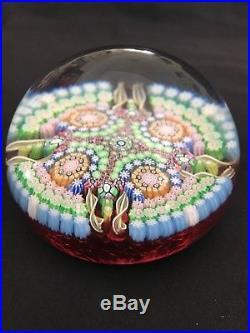 Perthshire Millefiori Art Glass Paperweight/ 1988/ FT