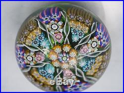 Perthshire Millefiori Tight Cane Ribbon Spiral Glass PaperweightP 1988GreatFC