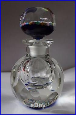 Perthshire Multifaceted Millefiori Inkwell Bottle With Matching Stopper PP15