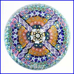 Perthshire One of a Kind Cross Form Millefiori Paperweight