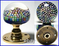 Perthshire PP18 Closepack Millefiori Paperweight Doorknob