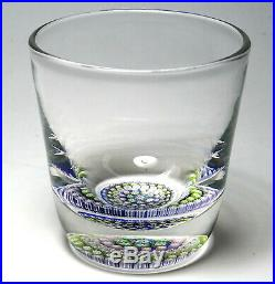Perthshire PP48 Old Fashioned Paperweight Tumbler with Concentric Millefiori Base