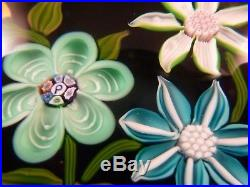 Perthshire Paperweight 1978D Floral Bouquet w Bud Paperweight LE EC
