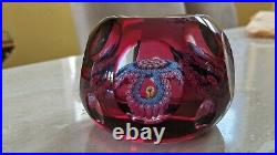 Perthshire Paperweight 1992F MAGNUM Garland Paperweight #106 LE WithCOA