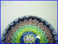 Perthshire Paperweight Close Packed Concentric Millefiori, P Cane