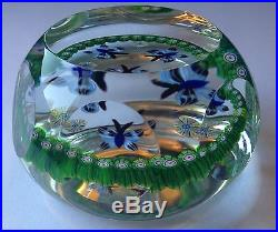 Perthshire Paperweight Faceted Butterflies 1987A