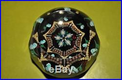 Perthshire Paperweight Magnum Flower & Cane Weight with COA No. 079