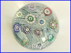 Perthshire Paperweight PP12 1975 Rare Indigo Lace Paperweight withSilhouettes LE