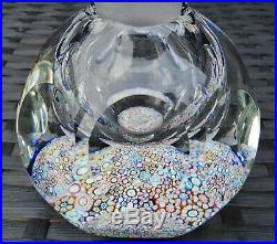 Perthshire Paperweights Complex Millefiori Paperweight Inkwell Bottle Pp15