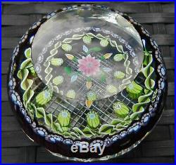 Perthshire Paperweights Millefiori Canes Floral Multi Faceted Paperweight P Cane