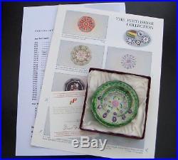 Perthshire Sammlung, 1990 Millefiori Flower, Paperweight, Briefbeschwerer