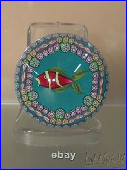 Perthshire Scotland Ltd Ed KISSING FISH Art Glass Paperweight- WithBox