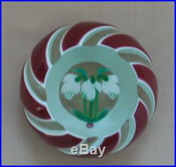 Perthshire Snowdrop Double Overlay (Red & White) PAPERWEIGHT