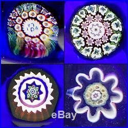 Perthshire Studio Art Glass 1974A Spaced Millefiori Paperweight