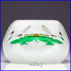 Perthshire Studio Art Glass Lampwork Pansy Flower Faceted Numbered Paperweight