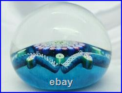Perthshire's John Deacons Magnum Blue Clichy Type Paperweight FREE SHIPPING