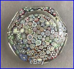 Peter McDougall Scotland Art Glass Faceted Paperweight