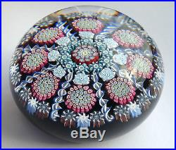 Peter McDougall paperweight M17 Black Complex Patterned