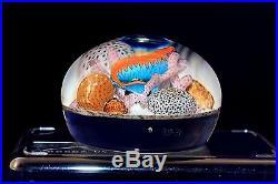 Phenomenal GORDON SMITH Tropical Reef Fish Coral AQUARIUM Art Glass PAPERWEIGHT