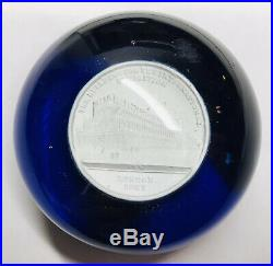 RARE Antique Clichy Sulphide Londons 1851 Crystal Palace Exhibition Paperweight