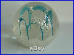RARE Caithness MAYDANCE SILVER Paperweight HANDSIGNED by Colin Terris 1986 EC