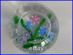 RARE Caithness WHITEFRIARS Faceted BOUQUET AND FERNS 97/150 Paperweight LE EC