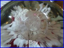 RARE DOORSTOP 5 1987 Gibson Art Glass TRUMPET FLOWER Paperweight Pink MAGNUM