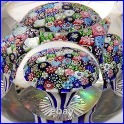 RARE HUGE Antique CLICHY Closepack Mushroom withRare Rose