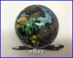RARE JOSH SIMPSON Signed PAPERWEIGHT Undersea World, Dated 1994, 3.5 Diam