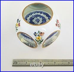 RARE Large Murano Art Glass OVERLAY FACETED MILLEFIORI UMBRELLA Paperweight