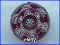 RARE Perthshire PP32 1985 LE Letter Q Small Ruby Paperweight EC 10 Facets