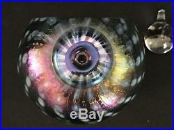 RARE-Philabaum Art Glass Perfume Bottle/Paperweight-Reptilian Jewel Tones-Signed