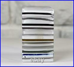RARE Whitefriars Art Glass 1973 Millefiori Thermometer Block Paperweight Signed