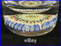 RARE Whitefriars Concentric Millefiori Paperweight Inkwell Bottle with Stopper
