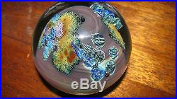 REDUCED! JOSH SIMPSON INHABITED PLANET PAPERWEIGHT Seascape, 3, #5-169,1991