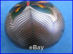 REDUCED! Vtg. ORIENT AND FLUME BUTTERFLY/FLOWER PAPERWEIGHT 3, 1976, w. Tag