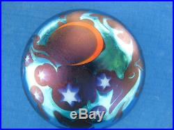 REDUCED! Vtg. SMYERS STUDIOS PAPERWEIGHT Blues, Crescent Moon, Stars, 3,1978