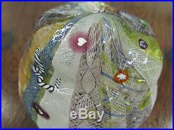 RICHARD MARQUIS NOBLE EFFORT Art Glass Paperweight #1 Ro Purser Studio NR