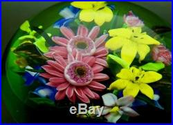 RICK AYOTTE Colorful Various Flowers Glass LT ED 03 Paperweight, Apr 2.5Hx4W
