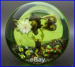 RICK AYOTTE Frog Pond Life Magnum Art Glass LT ED 99 Paperweight, Apr 3.25Hx4W