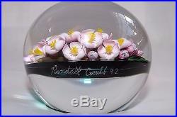 Randall Grubb 1992 Baccarat Plum Blossom Paperweight