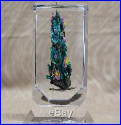 Rare AMAZING 1/1 Rick AYOTTE Sculpture BIRD Insects LIZARD Art Glass PAPERWEIGHT