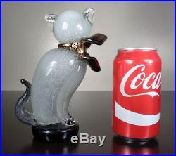 Rare Barbini Pulegoso Siamese Cat Figurine 7 Murano Art Glass Paperweight Kitty